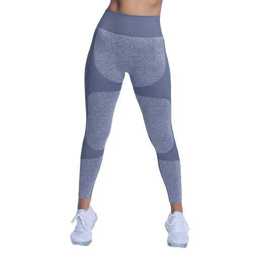 Ducomi Lia Leggings Mujer, Leggins de Cintura Alta - Ropa Deportiva para el Hogar y el Gimnasio - Pantalones de Control de Abdomen y Glúteos, Elásticos para Yoga, Pilates (Azul, EU XS)