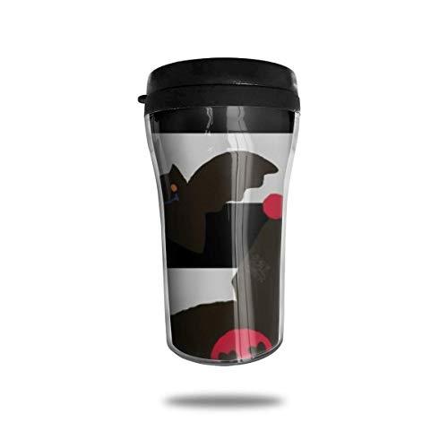 centimeter_ Kaffeebecher Hello_Ki-t-ty Halloween Doppelwand-Vakuum-Reisebecher mit Deckel 8,5 oz