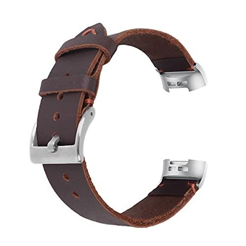 XIALEY Cinturini di Ricambio Compatibile con Fitbit Charge 4 / Charge 3, Cinturino in Morbida Pelle con Cinturino Dell'orologio Cinturino per Charge 3/Charge 4 Fitness Smart Watch,Brown1