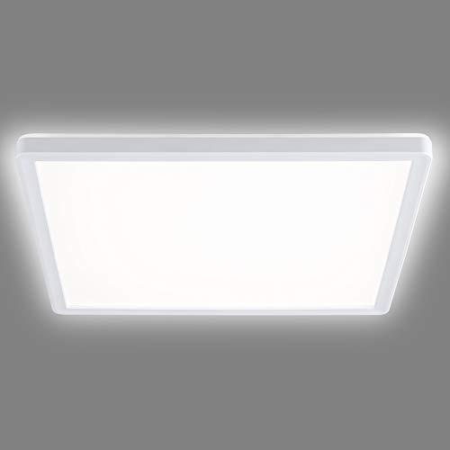 Navaris Lámpara LED de Techo Regulable - Iluminación Cuadrada 29.3 x 29.3 CM bajo Consumo 18 W Cambio de Temperatura de Color - Luz fría a cálida