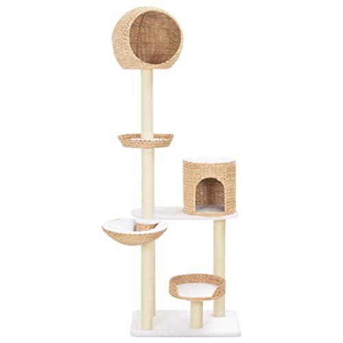 vidaXL Kratzbaum mit Sisal, Spielzeug, Kräuter, Meeresherzen