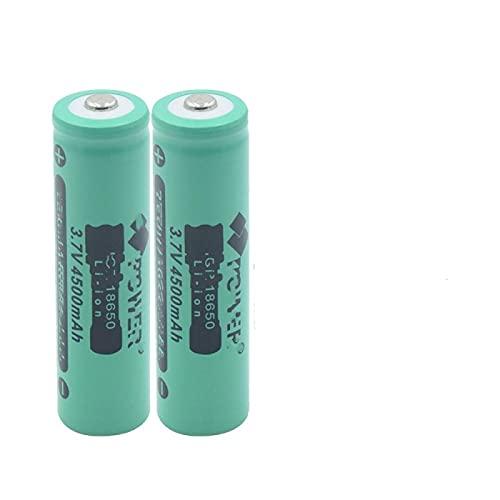 2pcs 18650 3.7v 4500mah Batería Recargable De Iones De Litio De Alta Capacidad Recargable, Utilizada para La CáMara del Walkie-Talkie del Gamepad De La Energía MóVil De La Linterna