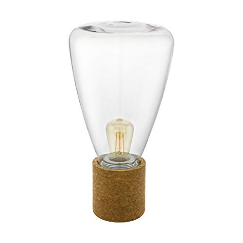 EGLO OLIVAL tafellamp, kurk, 10 W, bruin