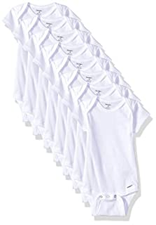 Gerber Baby 8-Pack Short Sleeve Onesies Bodysuits, Solid White, 0-3 Months (B07GFPVS2M) | Amazon price tracker / tracking, Amazon price history charts, Amazon price watches, Amazon price drop alerts