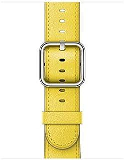 سوار ساعة ابل MRP42ZM/A 38 ملم مع إبزيم كلاسيكي، سوار ساعة 130-195 ملم، أصفر ربيعي (تكنولوجيا ذكية > اكسسوارات الساعة الذكية)