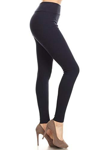 Leggings Depot HRL128-NAVY-S Ribbed Knit Jogger High Waist Track Pants, Small