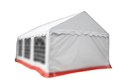 Nexos Pavillondach/Ersatzdach/Wechseldach/Dachbezug für Partyzelt Festzelt Zelt 4x6 m - Dachplane 400g/m² PVC wasserdicht – Farbe: weiß