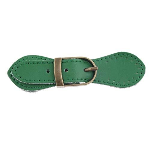 IPOTCH Taschenverschluss Lederriemen mit Schnalle für Taschenherstellung - Grün