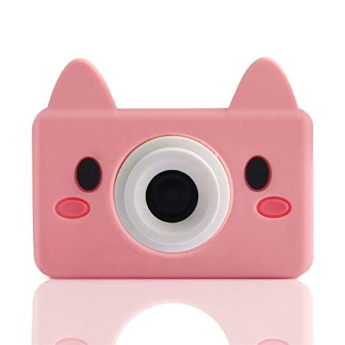 LYQZ Cámara Digital portátil for niños 2,0 Pulgadas IPS LCD Display con 2400W píxeles, se Puede conectar a WiFi Juguetes educativos, Regalos de los niños (Color : Piggy)