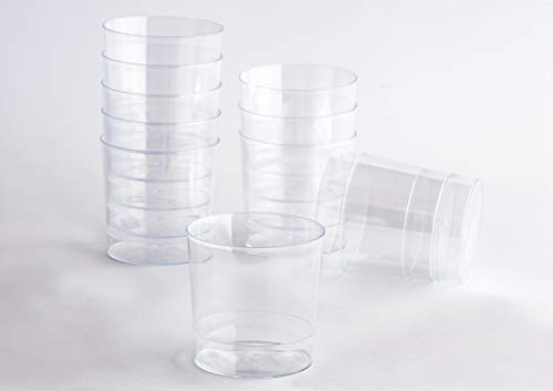 Desconocido Pack 100 Vaso Pinta Plástico Acabado Cristal Cerveza. Cap. 330ml. Vasos de plástico para cumpleaños, Fiestas, etc.- Reutilizable, Lavable