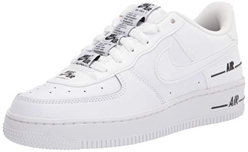 Nike Boys AIR Force 1 LV8 3 (GS) Basketball Shoe, White, 40 EU