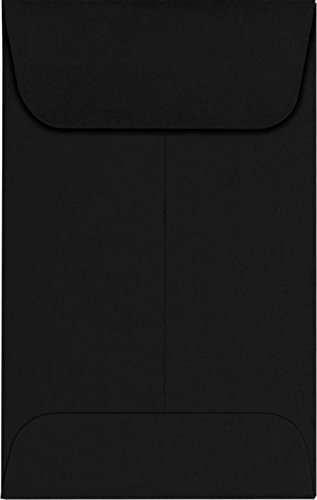 #1 Coin Envelopes (2 1/4 x 3 1/2) - Midnight Black (50 Qty.) | Perfect for the HOLIDAYS, Weddings, Parties & Place Cards | Fits Small Parts, Stamps, Jewelry, Seeds | 1COBLK-50