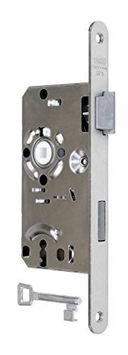 BKS Standard Zimmertürschloss/Türschloss mit Buntbart 55/72/8, Stulp: 20 x 235mm abgerundet, DIN Rechts incl. SN-TEC® Montageset