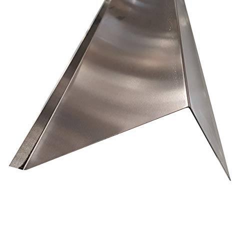 Ortgangblech 200 cm ( 2000mm) lang Aluminium natur Dachprofil Dichtungsblech Dachblech Kantblech (Z250mm/A:15mm+B:155mm+C:80mm)