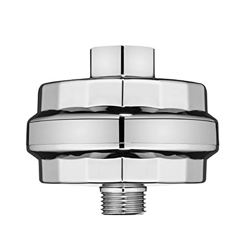 Brondell VivaSpring Compact Shower Filter, Polished Chrome – High Output, 100% High-Purity KDF Filtration, With FF-30 Filter Cartridge, Filtered Shower Water for Healthier Skin & Hair