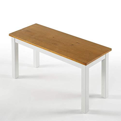 ZINUS Becky 92 cm Panca in legno | Panca da pranzo in legno massello in stile rustico | Facile da assemblare