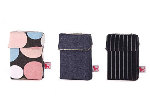 smokeshirt Big XL versch. 3er Sets Angebot. Designer Zigaretten-etui Zigaretten-Box Hülle für Zigarettenschachteln (23-25 Zig.) 3 zum Preis für 2 (Dark Blue, Pop, Busy)