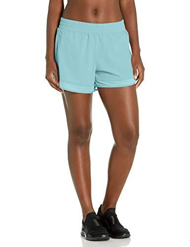 Jockey Women's Gravity Stretch Woven Short with Micro Mesh Hem, Angel Blue, Large