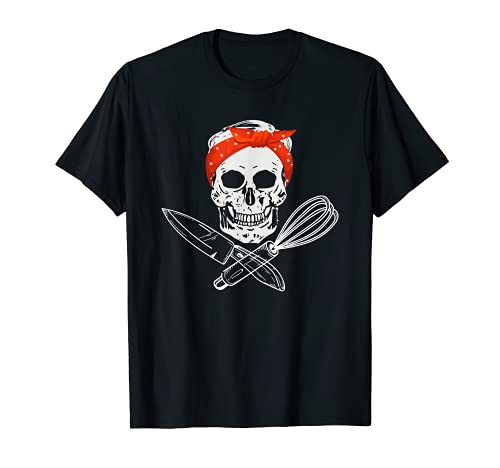 Tête de mort avec couteau et fouet. T-Shirt
