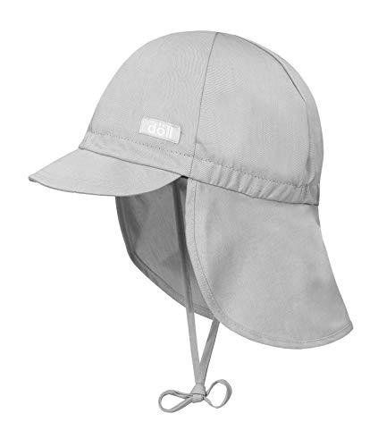 Döll Unisex Baby Bindemütze mit Schirm und Nackenschutz Mütze, Grau (Micro Chip|Gray 1992), 51