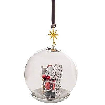Michael Aram Santa Snow Globe Christmas Ornament Decor