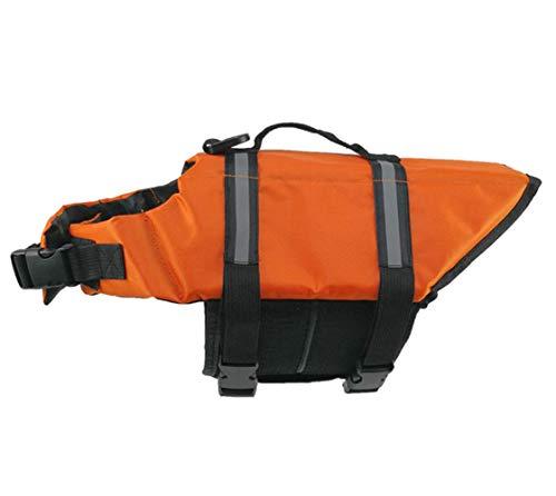 Markcur Reflektierende Schwimmweste für Hunde Outdoor Kleidung für kleine mittel große Hunde Rettungswesten Schutzkleidung Hundetraininganzug Schwimmweste XS-Orange