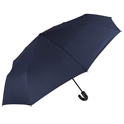 Golf zakparaplu voor heren op automatische wijze - paraplu stormbestendig winddicht groot XL met glasvezel - klassiek mannen scherm - PFC Free - diameter 118 cm - Perletti Technology