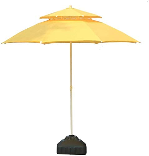 LYYJIAJU Parasolparasol Garden & Outdoors Parasols 7.5ft/9ft Double Top Patio Umbrella, Outdoor Sun Shade for Beach/Pool/Garden Umbrellas Round Sunscreen, Water/UV-Resistant Market Umbrella