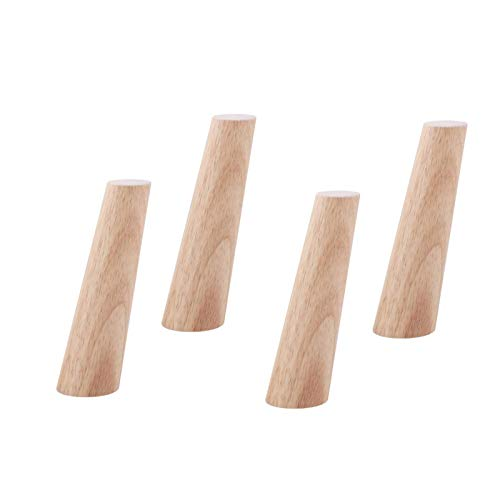 JXJ Holzmöbelbeine, Ersatztischfüße aus Massivholz, Sich verjüngende Sofabeine, Bettgurte, osmanischer Stuhlschrank Couchtisch Couch Schreibtisch Schrankschrankfüße, 4er-Set (Neigung 12 cm)