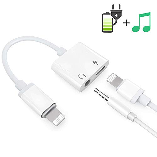 Headphone Adaptor for iPhone Besmon Converter Adapter Charger Adapter Cable with 3.5mm Dongle Earphone Aux Audio & Charge Compatible for iPhoneXR/XS/XS MAX/X/7/7P/8/8P/11/11pro