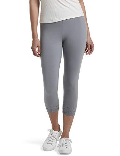 HUE Women's Fashion Cotton Capri Leggings, Assorted