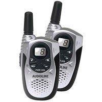 Audioline PMR 005 Sprechfunkgerät mit automatische Rauschunterdrückung in schwarz/Silber