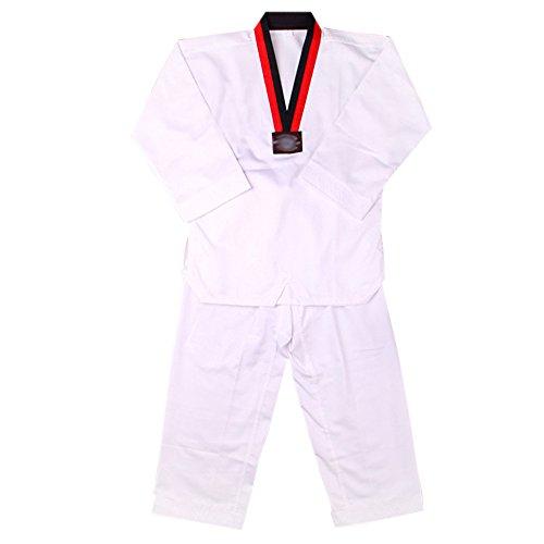 KINDOYO Traje de Taekwondo Artes Marciales Kung Fu Uniformes Ropa De Tai Chi, Blanco