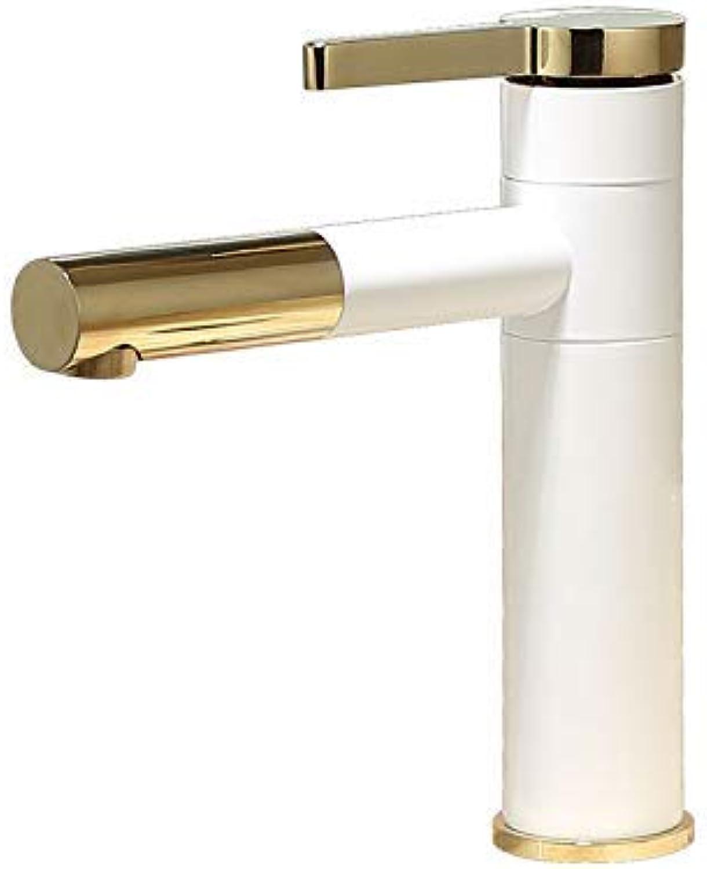 SEBAS HOME Taps Faucet Basin Faucet Copper Paint Bathroom Faucet Single Hole Basin Faucet Hot And Cold Wash Basin Wash Wash Basin D