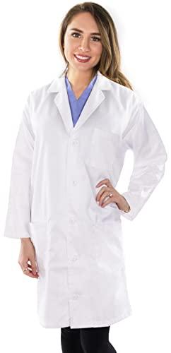 NY Threads Professional Lab Coat Women - Laboratory Coat (White, Small)