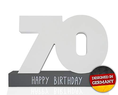 Huckleberry Home Gästebuch 70. Geburtstag aus Holz - Gästebuch für den 70. Geburtstag für...