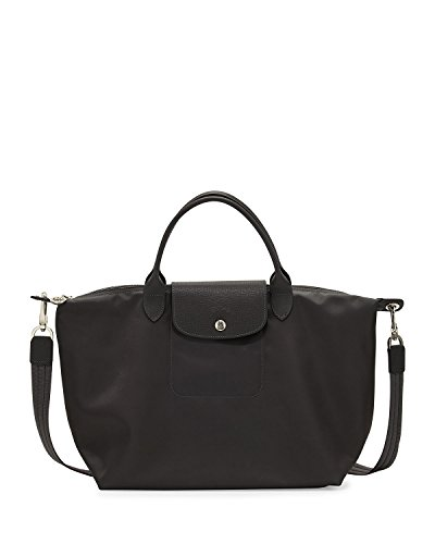Longchamp Le Pliage Neo Medium Handbag with Strap in Black