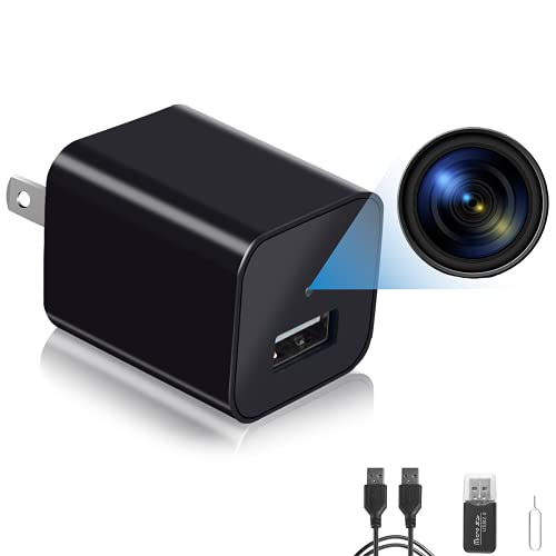 Spy Camera Charger, Hidden Camera, Mini Camera, USB Charger, Hidden Nanny Camera, 1080P HD, Card Reader (Memory Card not Included)
