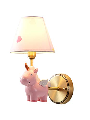 Lampade wandlamp wandlamp wandlamp wandlamp Creative Cartoon American Simple Nordic Boy And Girl Unicorn Lamp