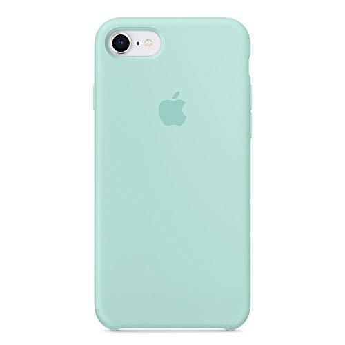 Kekleshell iPhone 8 Silicone Case 4.7', iPhone 7 Silicone Case, Soft Liquid Silicone Case with Soft Microfiber Cloth Lining Cushion -4.7inch (Marine Green)
