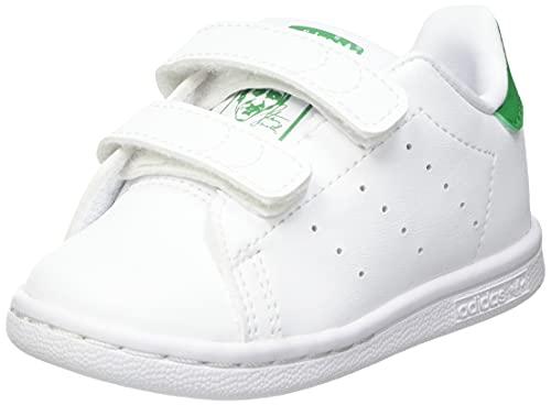 adidas Stan Smith CF I, Scarpe da Ginnastica, Ftwr White/Ftwr White/Green, 24 EU
