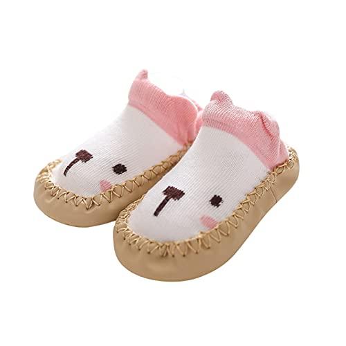 Babyschuhe 0-3monate Mädchen Kleinkind Schuhe Lauflernschuhe Weichen Boden Bodenschuhe Unisex Baby Krabbelschuhe Cartoon Rutschfesten indoor Sockenschuhe Kinderschuhe