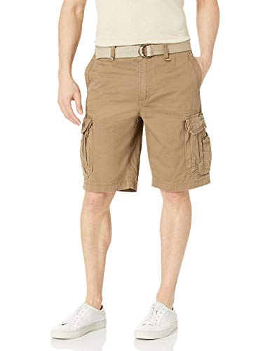 UNIONBAY Men's Survivor Belted Cargo Short-Reg and Big & Tall Sizes, Dugout, 32