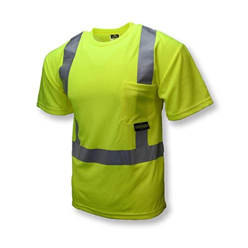 T-Shirt, Unisex, 2XL, 23-41/64 in., Green