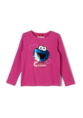 s.Oliver Mädchen T-Shirt Langarm pink 104/110.REG
