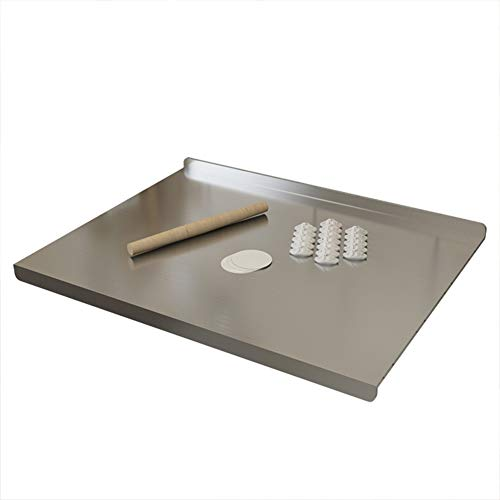 Tablas de Cortar Encimera de Acero Inoxidable Protector de Ahorro encimera Tabla de Cortar Personalizable ZHAOFENGMING (Color : Silver, Size : D500×600mm×1.5mm)