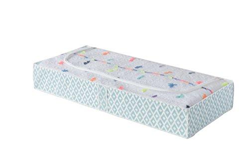 Compactor, Housse Extra Plate Dessous de Lit, Vert et Blanc, Dimensions: 107 x 46 x H.16 cm, RAN7446