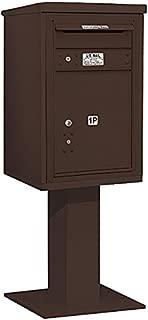 Salsbury Industries 3407S-1PBRZ 4C Pedestal Mailbox, Bronze