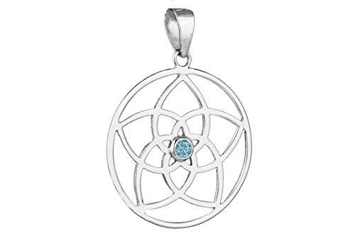 Arnava Mandala Colgante Louts–Topacio Azul
