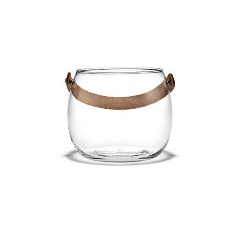 ホルムガード HOLMEGAARDガラスポットH12cmレザーハンドル付き DESIGN WITH LIGHT